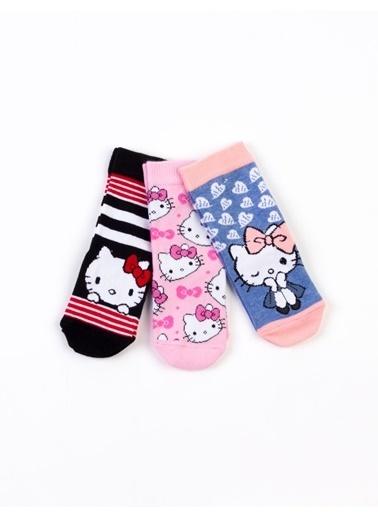 Hello Kitty  Lisanslı 6 Çift Çorap 17080 Pembe